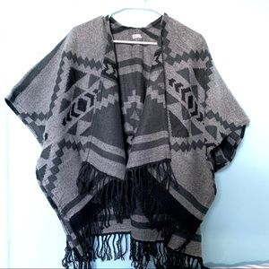 Hollister Tribal Print poncho sweater!!!